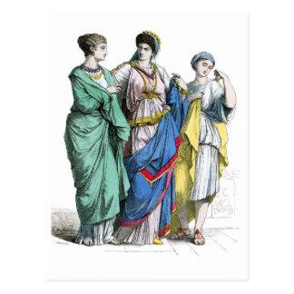 Mujeres romanas antiguas tarjeta postal