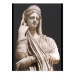 Mujeres romanas imperiales - estatua tarjeta postal