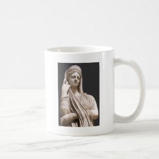 Mujeres romanas imperiales - estatua taza básica blanca