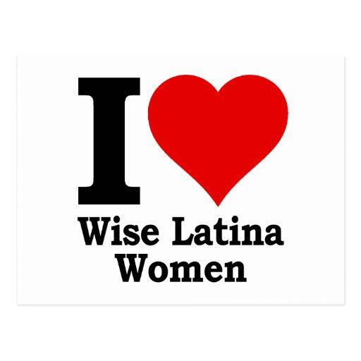 Mujeres sabias de I (corazón) Latina Tarjeta Postal