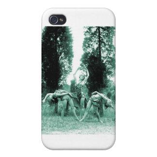 Mujeres salvajes del vintage de las mujeres retras iPhone 4/4S carcasas
