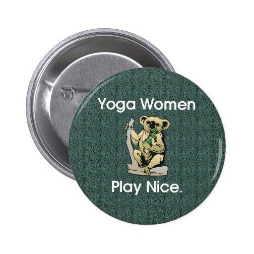Mujeres SUPERIORES de la yoga Pin