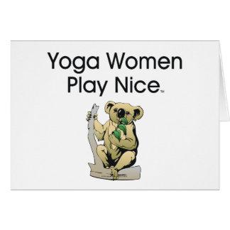 Mujeres SUPERIORES de la yoga Tarjetas