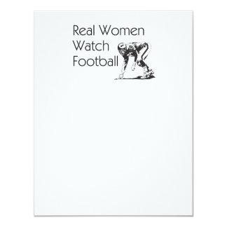 """Mujeres SUPERIORES del fútbol Invitación 4.25"""" X 5.5"""""""