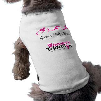 Mujeres tri: Swim.Bike.Run Camiseta De Perro