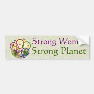 Mujeres unidas pegatina de parachoque
