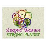 Mujeres unidas tarjeta postal