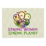 Mujeres unidas tarjetas de visita grandes