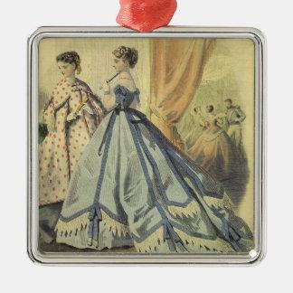 Mujeres V3 de los 1860s del vintage Ornaments Para Arbol De Navidad