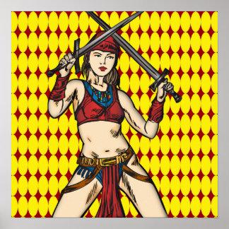 Mujeres valientes del Amazonas Posters