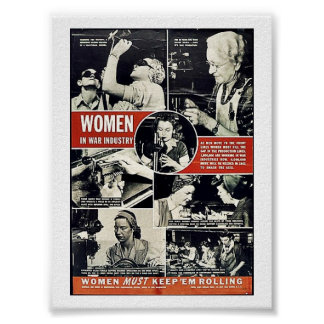 Mujeres Ww2 Poster
