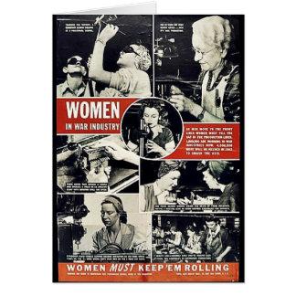 Mujeres Ww2 Tarjeton