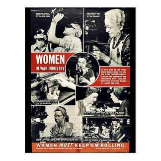 Mujeres Ww2 Tarjeta Postal