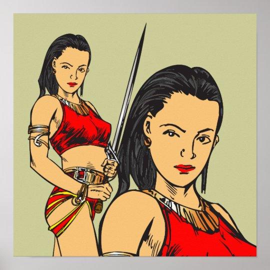 Mujeres y espada del Amazonas Póster
