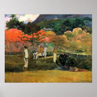 Mujeres y molde de Eugène Enrique Paul Gauguin Impresiones