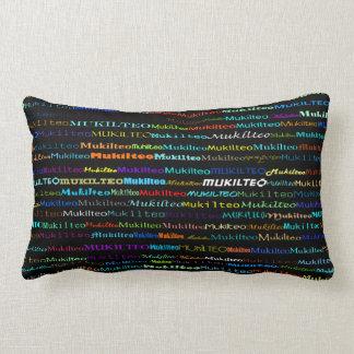 Mukilteo Text Design I Lumbar Pillow