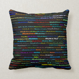 Mukilteo Text Design I Throw Pillow