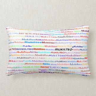 Mukilteo Text Design II Lumbar Pillow