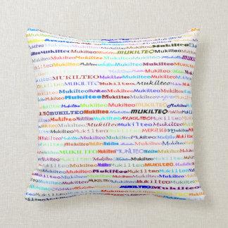 Mukilteo Text Design II Throw Pillow
