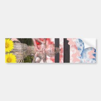 Muko mallow and Asura and Ise shrine Bumper Sticker