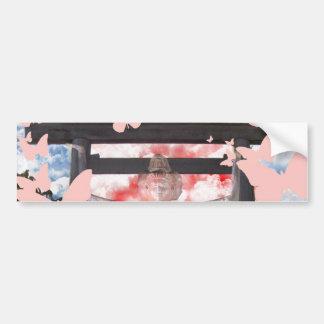 Muko mallow and Asura and Ise shrine Car Bumper Sticker