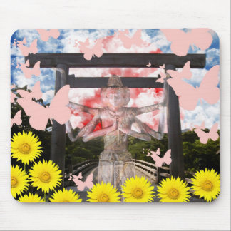 Muko mallow and Asura and Ise shrine Mouse Pad