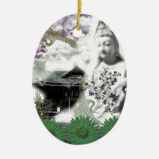 Muko mallow and the Merciful Goddess 菩 薩 with Ceramic Ornament