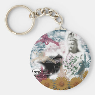 Muko mallow and the Merciful Goddess 菩 薩 with Keychain