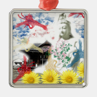 Muko mallow and the Merciful Goddess 菩 薩 with Metal Ornament