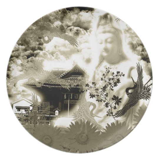 Muko mallow and the Merciful Goddess 菩 薩 with Plate