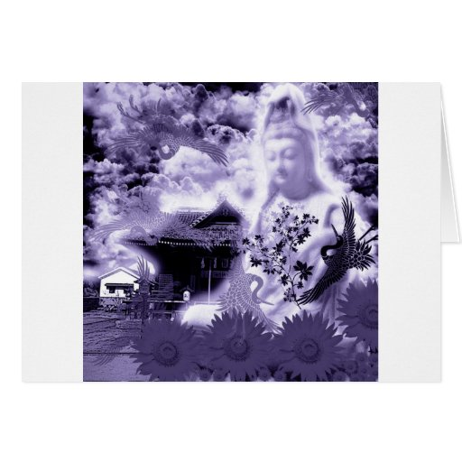 Muko mallow and the Merciful Goddess 菩 薩 with prin Greeting Cards