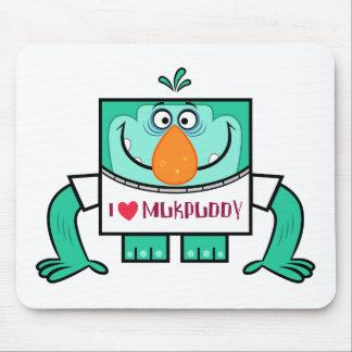 """Mukpuddy - """"l <3 Muk"""" Mousepad"""
