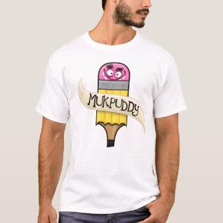 """Mukpuddy - """"Muk-Pencil"""" basic white t-shirt"""