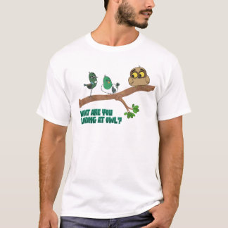 """Mukpuddy - """"What Are You Looking At Owl?""""- Basic T-Shirt"""