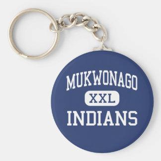 Mukwonago - Indians - High - Mukwonago Wisconsin Keychain