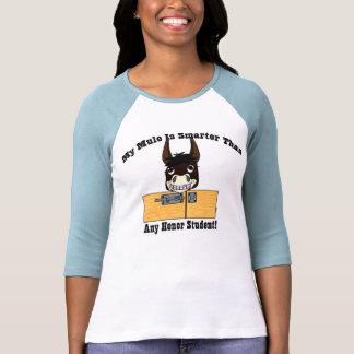 Mula lista (bahía) camisetas