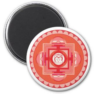Mūlādhāra Mandala Chakra (root chakra) 2 Inch Round Magnet