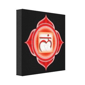 Muladhara o arraiga el 1r Chakra Impresión De Lienzo