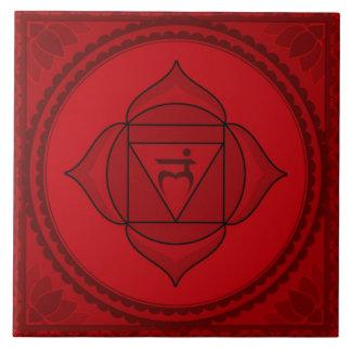 Muladhara or Root Chakra Large Square Tile