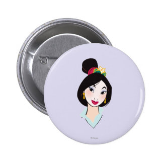 Mulan All Made Up 2 Inch Round Button