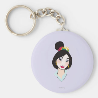 Mulan All Made Up Basic Round Button Keychain