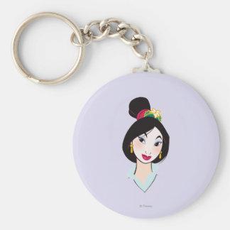Mulan All Made Up Basic Round Button Keychain