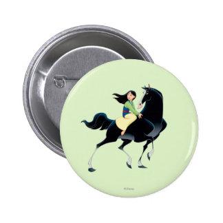 Mulan and Khan Pinback Button