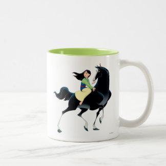 Mulan and Khan Two-Tone Coffee Mug