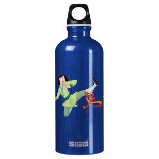 Mulan and Mushu Kicking Aluminum Water Bottle