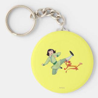 Mulan and Mushu Kicking Keychain