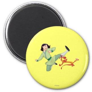 Mulan and Mushu Kicking Magnet