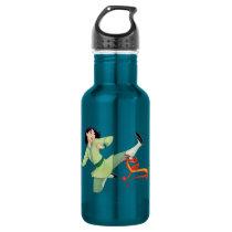 Mulan and Mushu Kicking Water Bottle