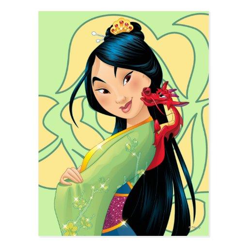 Mulan and Mushu Postcard