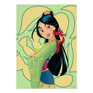Mulan and Mushu Poster